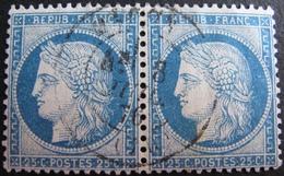 R1861/690 - CERES (PAIRE) N°60C - CàD De MACON (Saône Et Loire) Du 8 JUILLET 1876 - 1871-1875 Ceres