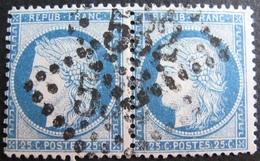R1861/691 - CERES (PAIRE) N°60C - GC 532 : BORDEAUX - 1871-1875 Ceres