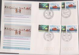 AAT 1991/1992 Antarctic Treaty 2v 4 FDC  Casey, Davis, Mawson, Macquerie Isl. (F7402) - FDC