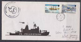 British Antarctic Territory (BAT) 1989 FS Polarstern Ca Halley Cover Ca 18 Ja 89 (F7403) - Brits Antarctisch Territorium  (BAT)