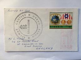 LIBERIA - 1989 Cover - Inauguration Of William Tolbert $1.00 Stamp Meter Mark With T.S.S. Fairstar Cachet - Liberia