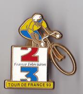 PIN'S  THEME CYCLISME  TOUR DE FRANCE  93 ANTENNE 2 FR3 - Cyclisme