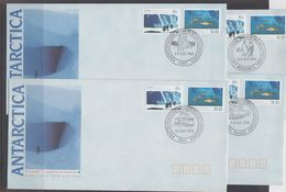 AAT 1990 Scientific Cooperation (Australia) 2v 4  FDC Casey, Davis, Mawson, Macquerie Isl. (F7404) - FDC