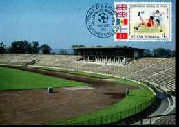 Rumänien 4198 Fußballweltmeisterschaft 1 MK Used Gestempelt - Maximumkarten (MC)