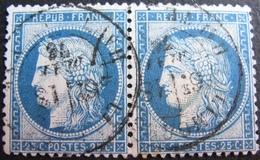 R1861/698 - CERES (PAIRE) N°60C - CàD De LIMOGES (Haute Vienne) Du 13 MAI 1876 - 1871-1875 Ceres