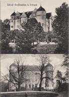 Ansichtskarte Großkmehlen-Ortrand 2 Bild Schloss Mit Bäumen 1915 Neudruck 2018 - Ortrand