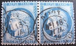 R1861/701 - CERES (PAIRE) N°60C - CàD De DIJON (Cote D'Or) Du 18 JUILLET 1876 - 1871-1875 Ceres