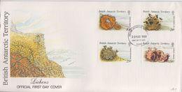 British Antarctic Territory (BAT) 1989 Lichens 4v FDC (F7407) - FDC