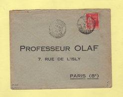 Limeuil - Dordogne - 14-2-1935 - Facteur Boitier 738 - Manual Postmarks