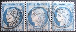 R1861/706 - CERES (BANDE DE 3 TIMBRES) N°60C - CàD De BESANCON (Doubs) Du 23 MAI 1876 - 1871-1875 Ceres