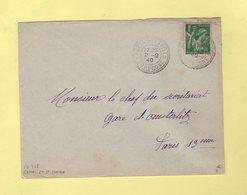 Cenac Et St Julien - Dordogne - 2-2-1940 - Facteur Boitier 728 - Manual Postmarks