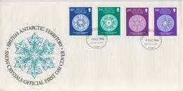 British Antarctic Territory (BAT) 1986 Glaciological 4v FDC (F7409) - FDC