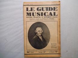 LE GUIDE MUSICAL FEVRIER-MARS 1931 BEVERIDGE WEBSTER,CRITIQUE DE QUELQUES BONS DISQUES,LA VIE MUSICALE A TRAVERS LES LIV - Musique & Instruments