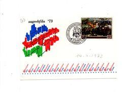 LAB211 - YUGOSLAVIA 1973, Razzo Raketen Cartoncino Per Zagabria 73 - 1945-1992 Repubblica Socialista Federale Di Jugoslavia