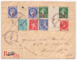 Lettre Adresse Au Secretaire Du Marechal Petain En Recommandée De Conde Sur Lescaut Nord Ceres Semeuse Mercure - Marcophilie (Lettres)
