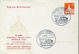 37232 Germany, Stationery Card 8pf. Berlin Tag Der Briefmarke 22.10.1960 - [5] Berlin