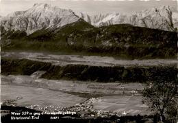 Weer Gegen Das Karwendelgebirge, Unterinntal, Tirol (3871) - Autriche