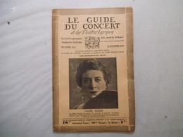 LE GUIDE DU CONCERT 22 NOVEMBRE 1929 LAURE BERGER,MARTINE DUPARC,ALEXANDRE SERGUIEVITCH DARGOMIJSKY LE CHEF D'ECOLE APR - Musique & Instruments