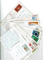 FRANCE / 800 Timbres Grands Formats Sur Cartes Postales - France