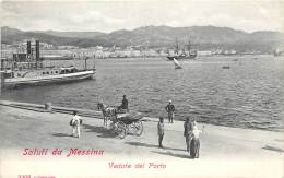 ITALIE  SALUTI DA  MESSINA VEDUTA DEL PORTO - Messina