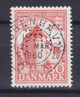 Denmark Perfin Perforé Lochung (M29) 'M R' M. Rotwitt, København (Mi. 347) Deluxe KØBENHAVN OMK. 1960 Cancel - Abarten Und Kuriositäten