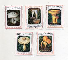 AFGHANISTAN - Lotto 5 Francobolli Tematica Funghi - Usati - (FDC11552) - Afghanistan