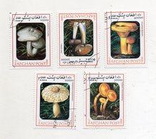 AFGHANISTAN - Lotto 5 Francobolli Tematica Funghi - Usati - (FDC11552) - Funghi