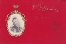 OLD ORIGINAL EMBOSSED POSTCARD - SOUVENIR DE BRUXELLES - MARIA ENRICHETTA D'ASBURGO - 1900 - T165 - Familles Royales