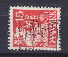 Denmark Perfin Perforé Lochung (B42) 'BrBx' Brdr. Bendix, København Partial Perfin !! Karavelle (2 Scans) - Abarten Und Kuriositäten