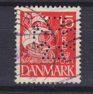 Denmark Perfin Perforé Lochung (Fig13b) 'Maltese Cross' Det Forenede Dampskibselskab, Esbjerg (2 Scans) - Abarten Und Kuriositäten