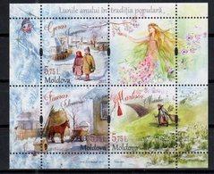 MOLDOVA, 2017, MNH, FOLKTALES, HORSES, FAIRIES, SHEETLET - Cultures