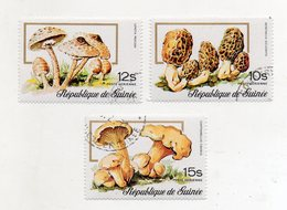 GUINEA BISSAU - 1977 - Lotto 3 Francobolli Tematica Funghi - Usati - (FDC11557) - Guinea-Bissau