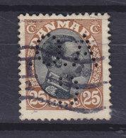 Denmark Perfin Perforé Lochung (A46) 'A.O.C.' Alfred Olsen & Co., København (Mi. 100) Chr. X. Stamp (2 Scans) - Abarten Und Kuriositäten