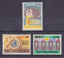 South Vietnam Viet Nam MNH Perf Surcharged Stamps 1975 : Sc 514-516 - Vietnam