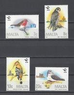 MALTE. YT 743/746 Neuf **  25e Anniversaire De La Société Ornithologique Maltaise. Oiseaux  1987 - Malta