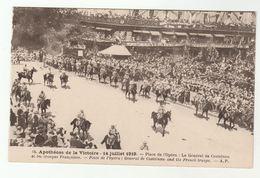 1919 France WWI VICTORY PARADE General De Castelnau And French Troops, Paris Military Forces Horse Postcard - War 1914-18