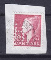Denmark Perfin Perforé Lochung (H03) 'H' Hjemmeværnet (National Guard) ERROR Variety Double Perfin !! - Abarten Und Kuriositäten