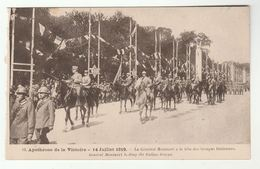 1919 France WWI VICTORY PARADE General Montuori And Italian Troops, Paris Military Italy  Forces Horse Postcard - War 1914-18