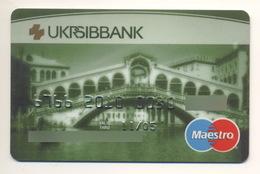 UKRAINE Credit Card Bankcard Ukrsib Bank Exp 11.2005 Bridge - Geldkarten (Ablauf Min. 10 Jahre)
