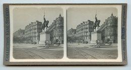 """COLLECTION KINÉ-STÉRÉO """"""""""""Paris """""""""""" La Statue De Washington  . Scène De Vie . - Photos Stéréoscopiques"""