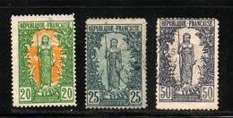 CONGO  FRANCAIS     N°  33 / 34 / 37   Obl     Cote: 12,50 €   Un Filigramme Inversé - French Congo (1891-1960)
