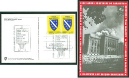 Bosnia And Herzegovina 1993 BiH 1st Stamp BH Post Sarajevo 1st Commemorative Stamp Card Coat Of Arms - Bosnia Erzegovina