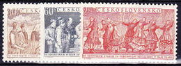 ** Tchécoslovaquie 1954 Mi 878-80 (Yv 779-81), (MNH) - Unused Stamps
