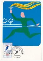 FRANCE - 2 Cartes Maximum - Parcours De La Flamme Olympique - 2 Cachets Différents - Nov Et Dec 1991 - 1990-99
