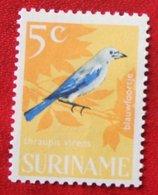 5 Ct Vogels Birds  NVPH 443 Mi 488 1966 MH / Ongebruikt SURINAME / SURINAM - Surinam ... - 1975