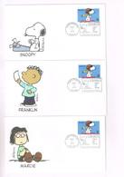 PEANUTS - SNOOPY : Par Schulz. Les 12 Enveloppes FDC Des U.S.A. Avec Tous Les Personnages. Santa Rosa 2001. Rare! - Comics