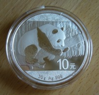 China, Panda 1 Oz 2016 Silver 999 Pure - 1 Oncia Argento Puro Bullion Cina - Cina