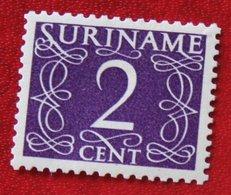2 Ct Cijfer Krimpen  NVPH 251  1948-1951 MH / Ongebruikt  SURINAME / SURINAM - Surinam ... - 1975
