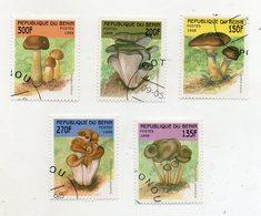BENIN - 1998 - Lotto 5 Francobolli Tematica Funghi - Usati - (FDC11566) - Funghi