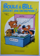 BD PUBLICITAIRE BOULE ET BILL CREENT UNE ENTREPRISE ! INSTITUT DE L'ENTREPRISE 1985 - Gaston